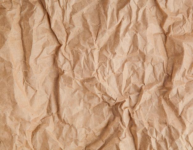 古い茶色のしわくちゃの紙のテクスチャ