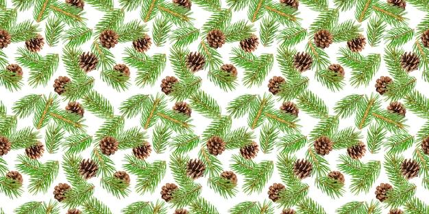 モミの木の枝のシームレスパターン
