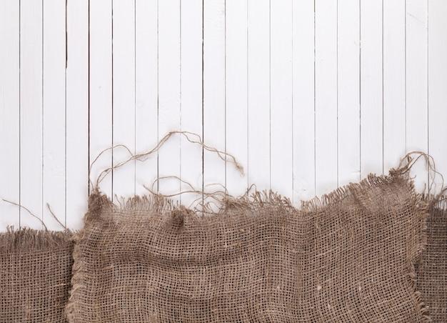 黄麻布のヘシアンまたは白い木製の解任
