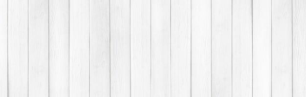 木製の素朴な白い板テクスチャワイド