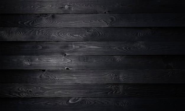 黒の木製の背景