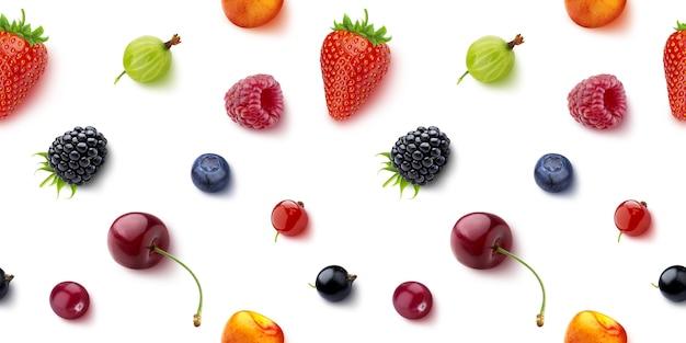Бесшовный фон из ягод