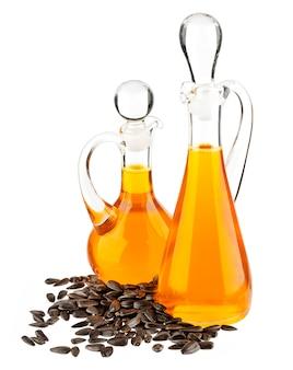 ひまわり油のガラス瓶の分離
