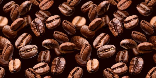 コーヒー豆のクローズアップ