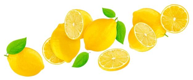 Лимон, изолированные на белом с отсечения путь
