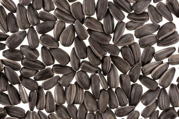 黒いヒマワリの種の背景やテクスチャ