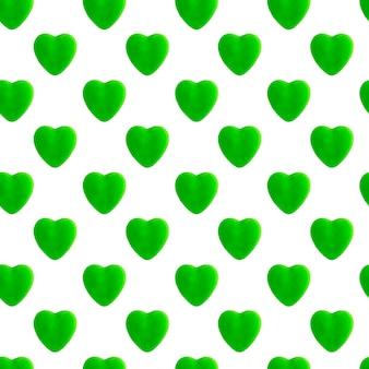 Зеленое сердце бесшовные модели
