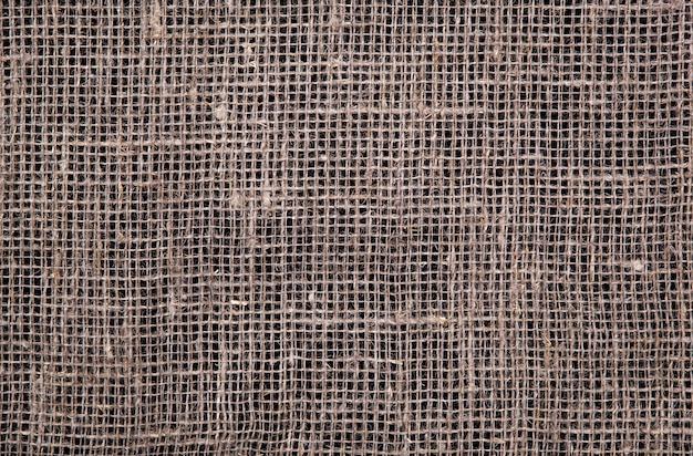 Темная текстура мешковины