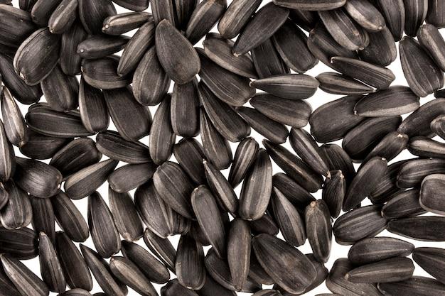 黒いヒマワリの種の背景