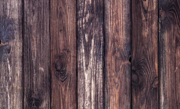 暗い木製の背景、古い木製のテクスチャ