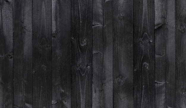 広い黒い木製の背景、古い木製の板テクスチャ