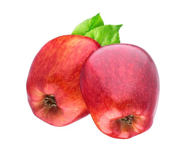 Красные яблоки на белом фоне