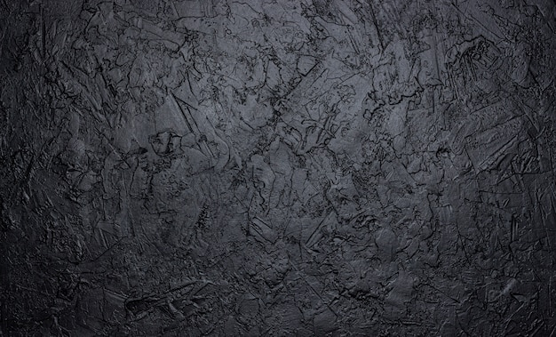 Черная каменная текстура, темный сланцевый фон