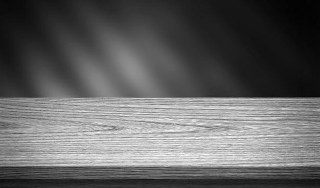 製品ディスプレイモンタージュの木製テーブル