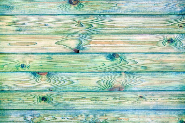 Светло-синий и зеленый деревянный фон