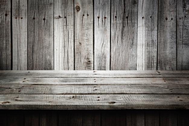 灰色の木製のテーブルの背景