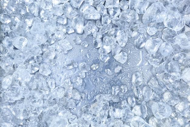 砕いた氷の背景