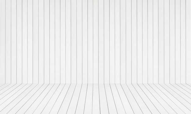 木の板の背景の白