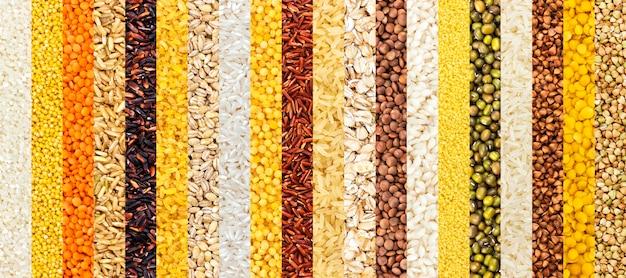 別のひき割り穀物の背景のコレクション