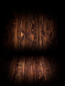 商品のモンタージュの暗い背景の木