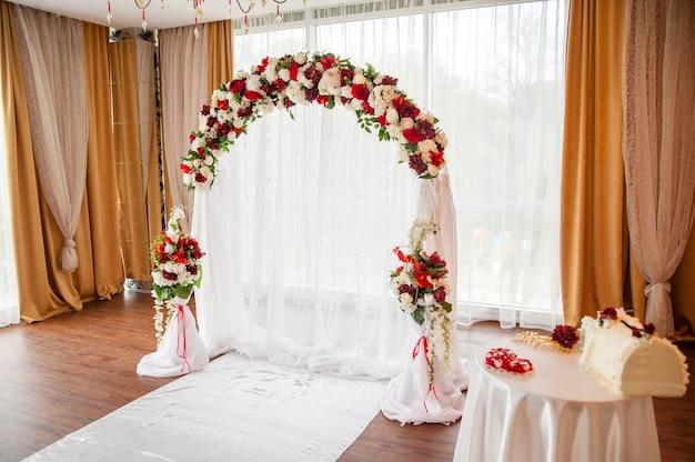 結婚式の装飾。