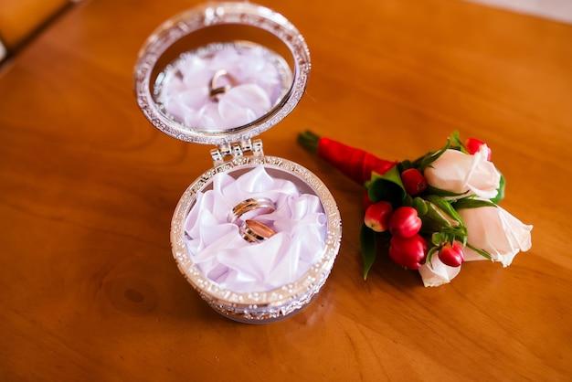金の結婚指輪。