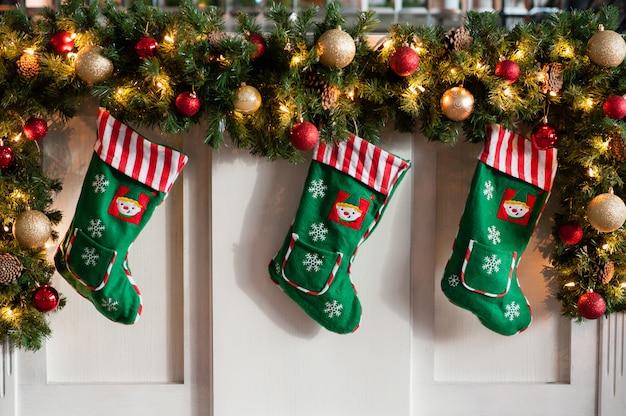 Елочные украшения, рождественские носки