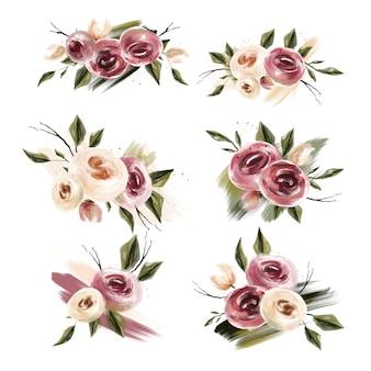 ピンクとサンゴの花束コレクション