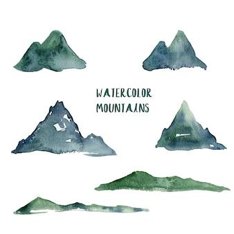 水彩山脈の図