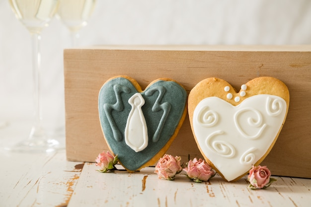 新郎新婦の結婚式の料理