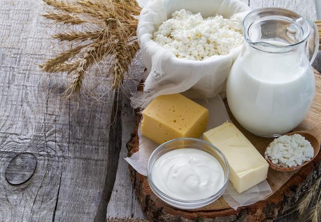 乳製品と小麦の選択