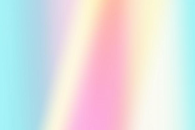 シンプルなグラデーション淡いピンク、青、黄色のパステルカラーのホログラフィック背景