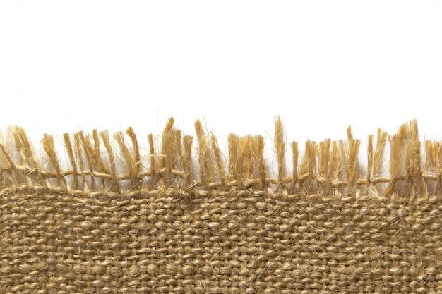 ヘシアン袋布ボーダー