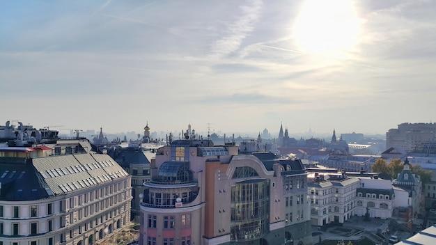 Панорама исторического центра москвы, столицы россии