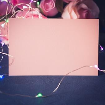 バレンタインのグリーティングカードの招待状