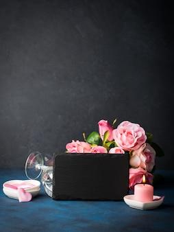 バレンタインデーのコンセプトとグリーティングカード