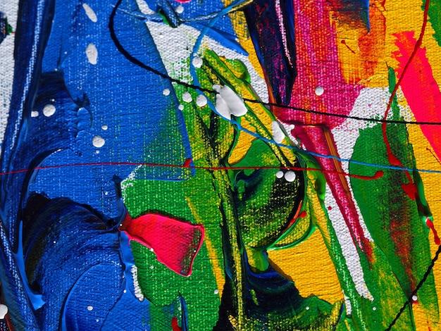 キャンバスの抽象的な背景の油絵。