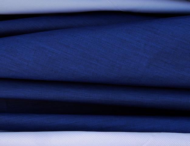 Синяя роскошная ткань классический абстрактный фон.