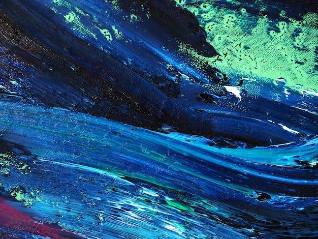 Океанские волны. движение крася красочную текстуру. абстрактные цвета предпосылки яркие художнические брызгают.