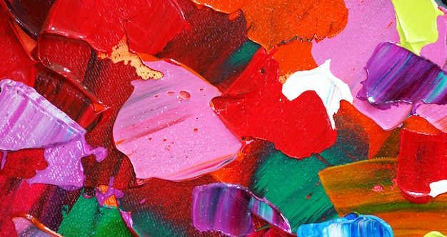 手描きの油絵。キャンバスに油彩画。