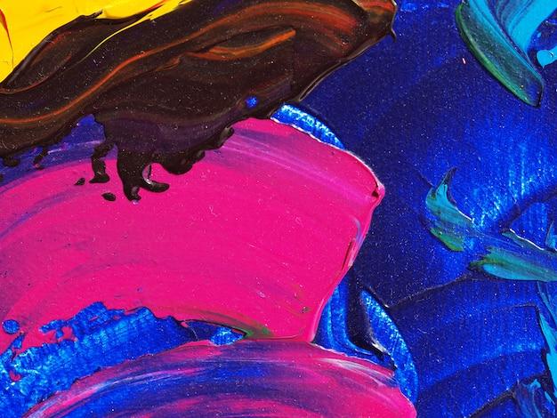 カラフルなペイントの抽象的な背景と質感。