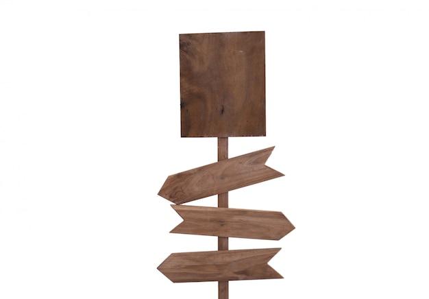 Знак деревянный изолированный