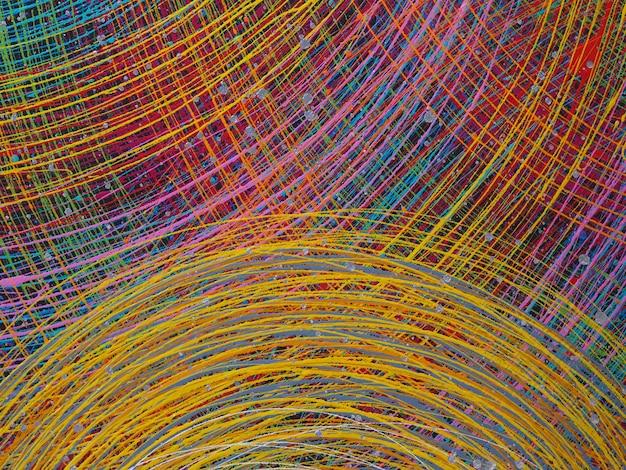 抽象的な線の質感とカラフルな背景。
