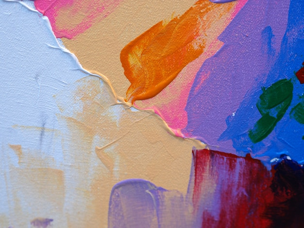 油絵の具カラフルな甘い色の抽象的な背景とテクスチャ。