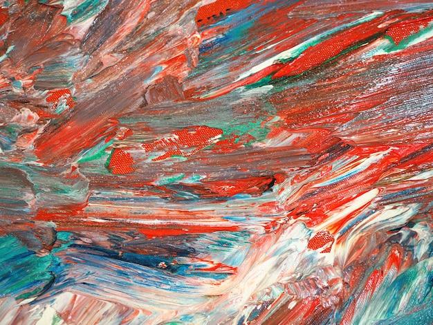カラフルなオイルペイントモーション抽象的な背景とテクスチャ。