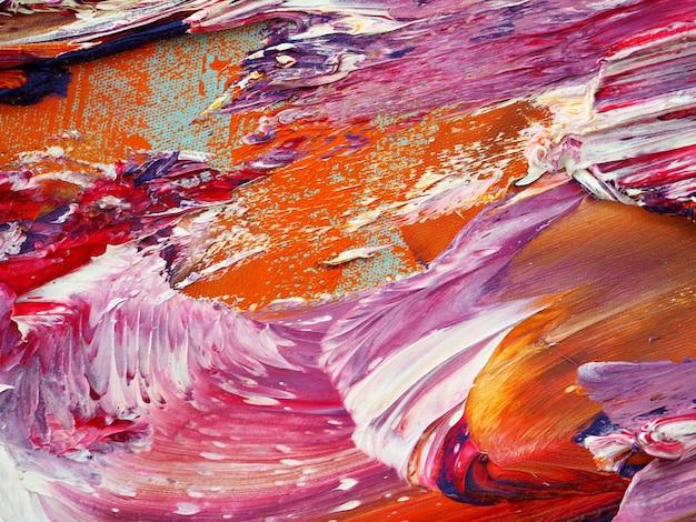 カラフルな油絵の具の動きの抽象的なテクスチャ。