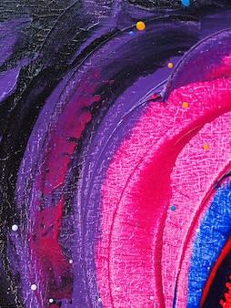 油絵の具カラフルなブラシストロークのスプラッシュドロップ甘い色の抽象的な背景とテクスチャ。