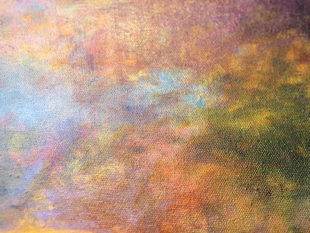 手描くカラフルな油絵の具の抽象的な背景。