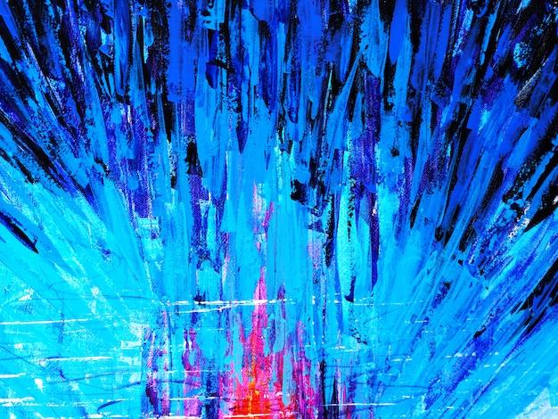 抽象的な背景と織り目加工のカラフルな油絵マルチカラー。
