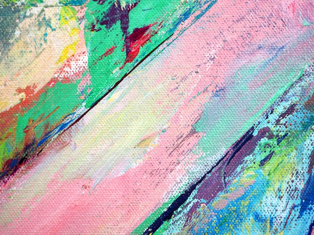カラフルな色のペイントブラシ甘いオイルペイントの抽象的な背景。